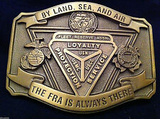 Fleet Reserve Association Custom made Belt Buckle FRA (Solid Brass)