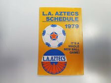 RS20 Los Angeles Aztecs 1979 Soccer Pocket Schedule - Music +