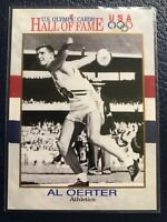 AL OERTER ~ Gold Medalist  1991 Impel U.S. Olympic HOF Card #4