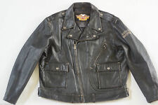 Harley Davidson Men's CYCLE CHAMP II 2 Classic Leather Jacket Snakeskin Rare 3XL