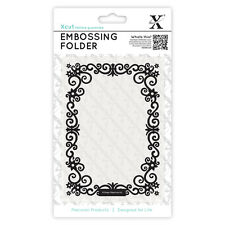 Docrafts Xcut A6 embossing folder 15x10cm Floral frame X cut