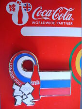 COCA COLA PIN BADGE - LONDON 2012 - COUNTRY FLAG - RUSSIA - MOC