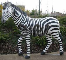 ZEBRA lebensgroß 190 cm Wildtiere Zoo Afrika Zirkus Deko Figur Garten Skulptur