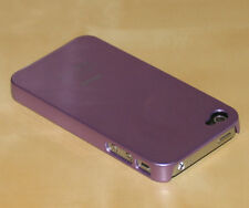 Purple Hard Back Skin Case Cover For Apple iPhone 4G