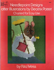 Needlepoint Designs Beatrix Potter Charted Patterns By Rita Weiss Rabbits Mice