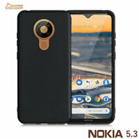 Black Matte Gel TPU Jelly Soft Case Cover For Nokia 5.3
