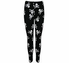 Womens Printed Celeb Ladies Stretchy Trousers Pants Jeggings Leggings Plus Sizes