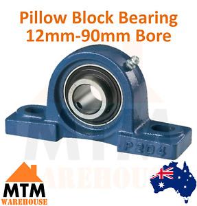 UCP Pillow Block Bearing Self Aligning Bottom Foot Mount Housing 12mm-90mm Bore