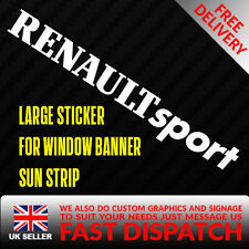 RENAULT SPORT Sticker Badge for Sun strip Vinyl Decal Banner Sponsor Visor clio