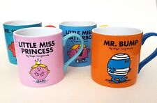 Mr. Men Little Miss Mugs x 4 Collectable Set Princess Chatterbox Bump Strong