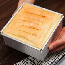 Square Shaped Cake Pan With Removable Bottom Mold Cake Baking Mould 10''