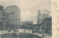 BROOKLYN NY – City Hall Square – udb – 1907