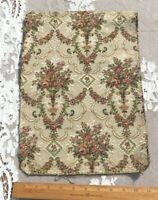 """French Vintage c1920s Cotton Floral Tapestry Fabric~L-14"""" X W-10.5"""""""