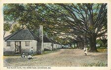 1915-1930 Postcard; Old Slave Huts, The Hermitage, Savannah GA Chatham County