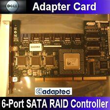Dell Adaptec AAR-2610SA 64MB PCI-X 6-Port SATA RAID Controller D9872