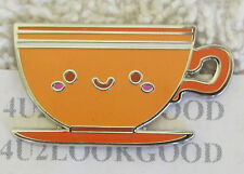 Disney Pin Kingdom of Cute TEA CUP Orange  with Smile Mystery