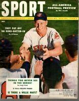 1954 (Oct.) Sport magazine Baseball, Al Rosen, Cleveland Indians, Willie Mays~Gd
