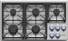 Dacor Dyct365Gsng Discovery 36 Inch Gas Cooktop 5 Sealed, Dual Stacked Burners