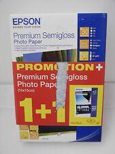(PRL) EPSON PHOTO PAPER CARTA PREMIUM SEMIGLOSS 10 x 15 CM DUO PACK 251 GR 50 SH