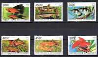 Peces Guinea (12) serie completo de 6 sellos matasellados