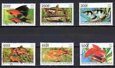 Poissons Guinée (12) série complète de 6 timbres oblitérés