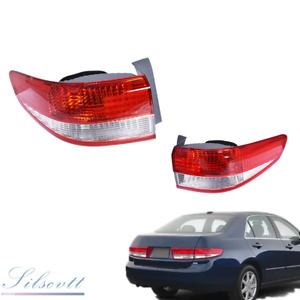 Tail Light Fit for 2003-2004 Honda Accord Sedan Outer Pair Left & Right Side Red