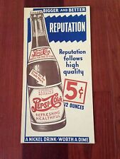 OLD PEPSI COLA 5 CENT ADVERTISING SIGN NICKEL DRINK WORTH A DIME CARDBOARD