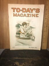 Antique To-Day's Magazine July August 1910 Issue