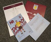 Aston Villa v Manchester City Matchday Programme with colour teamsheet 12/01/20!
