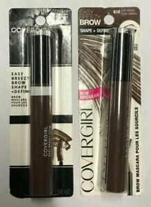COVERGIRL Easy Breezy Brow SHAPE+DEFINE Brow Mascara 610 Soft Brown *LOT OF TWO*