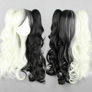 Danganronpa Dangan Ronpa Monokuma Cosplay Hair With Two Ponytails Long Wig