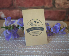 20 personalised wedding favour seed packets vintage, shabby chic, rustic, eco