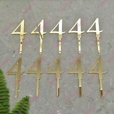 10 x Number 4 Birthday Acrylic Gold Mirror Cupcake Topper