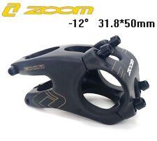 ZOOM Aluminum Stems MTB Mountain DH Road Bike handlebar bar Stem 31.8*50mm -12°