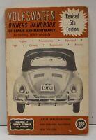Clymer Volkswagen Owners Repair Maintenance Handbook Manual 1963 5th Ed Vtg
