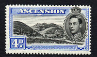 Ascension 4d Stamp Perf 13 1/2  c1938-53 Mounted Mint (3068)