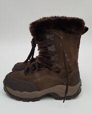 Women'sHi-Tec Brown Suede Winter Fur Lined Walking Hiking Boot Size UK 3 New