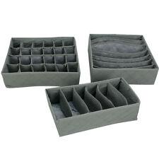 3pcs Underwear Bra Socks Ties Divider Closet Organizer Storage Box Set Container