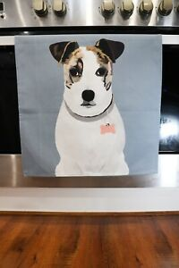 Jack Russell Print Cotton Tea Towel. Exclusive Design Dog Lover Gifts