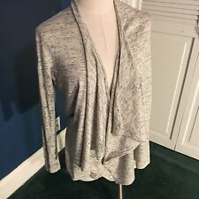 Talbot's petite cotton cardigan sweater womens small size P grey
