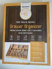 belmint home sleek home 100% natural Bamboo drawer organizer