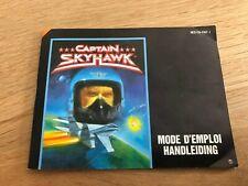 Captain Skyhawk FRA Notice Manual Nintendo NES