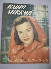 RADIO MIRROR JANUARY 1948 ANITA GORDON RED SKELETON GIRL MARRIES ROAD OF LIFE