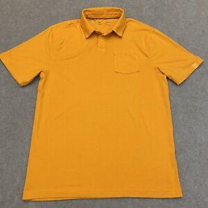 Under Armour Charged Cotton HeatGear Polo Shirt Orange Men's Loose Size Medium