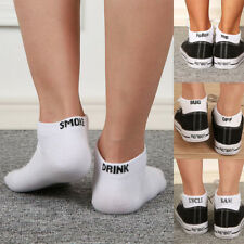Fashion Men Women Fuck-Off Letters Soft Socks Ankle Sport Knit Printed Cotton