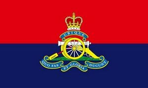 ROYAL ARTILLERY REGIMENT FLAG 5' x 3' The Gunners British Army Armed Forces