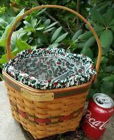 Longaberger Snow Flake Sponsoring Basket Liner Protector Combo 1997Christmas