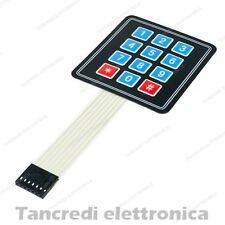tastiera a membrana 4x3 3x4 12 tasti adesiva keypad tastierino numerico