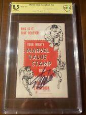 MARVEL VALUE STAMP BOOK 1974 CBCS 8.5 WHITE SS STAN LEE!! FULL BOOK SUPER RARE