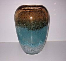"Lenox Seaview Ombre Urn Crystal Vase 12"""